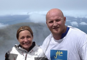 John Hartson with his wife and fellow BraveHart, Sarah Hartson